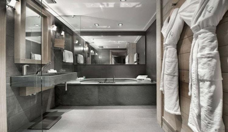 decoración baño muebles cemento