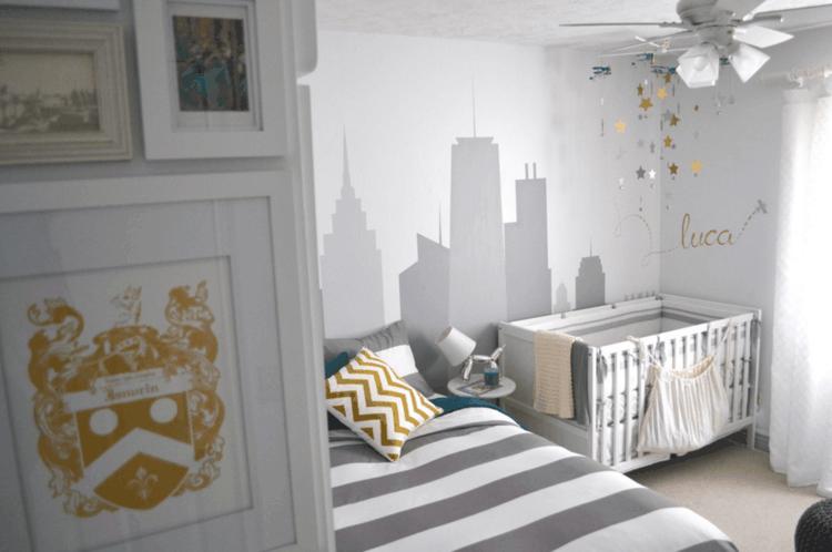 decoraciones cuarto bebe gris