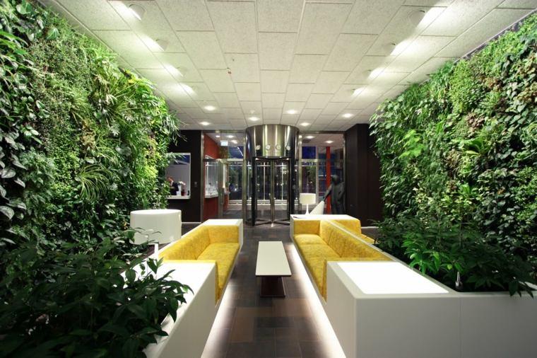 decoraciones interiores paredes verdes