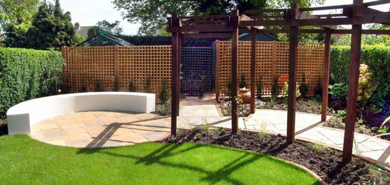 decoración jardines elementos modernos