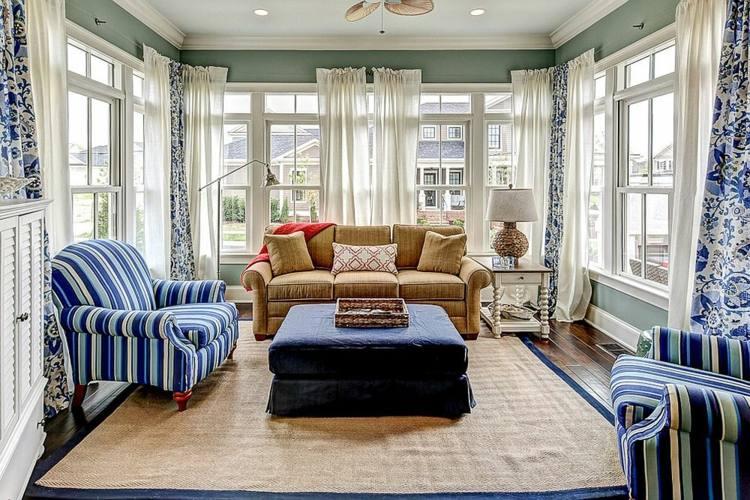 decoración muebles color azul