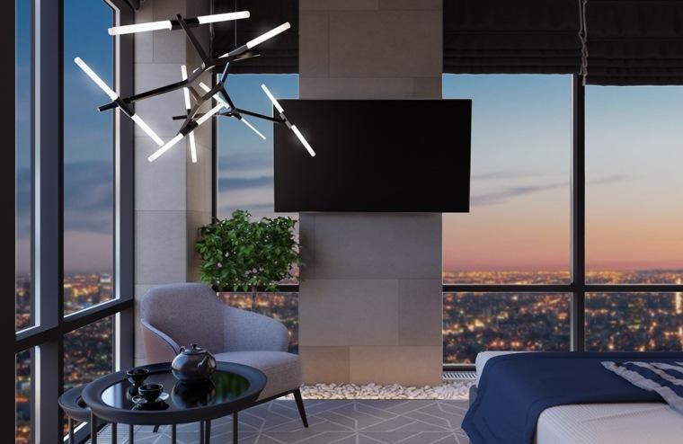 decoración suelo habitación moderna
