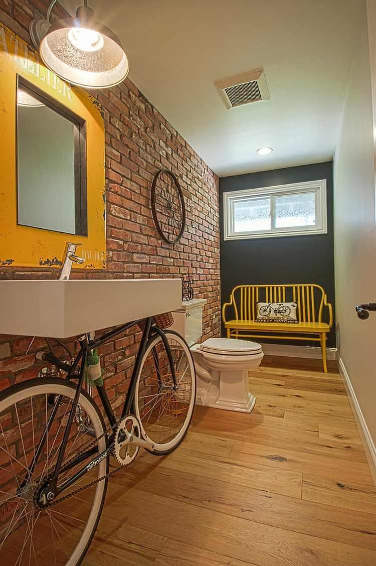 decoracion baños modernos pared ladrillo exepcional ideas