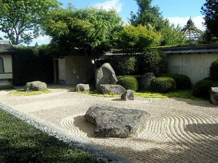 decoracion jardines diseno asiatico Nueva Zelanda ideas