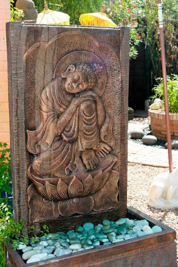 decoracion de jardines diseno asiatico estatua ideas