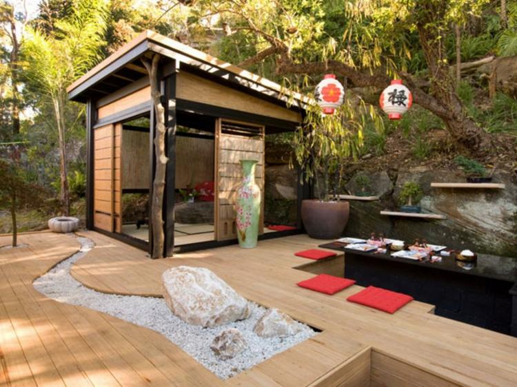 decoracion jardin diseno asiatico caseta ideas