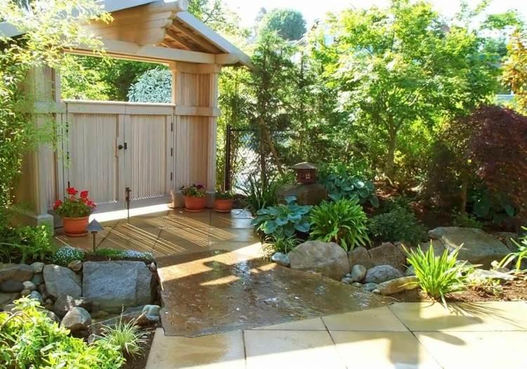 decoracion jardin diseno asiatico exitante ideas