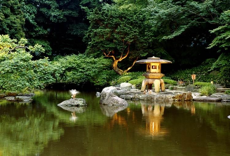 decoracion jardin diseno asiatico lago ideas