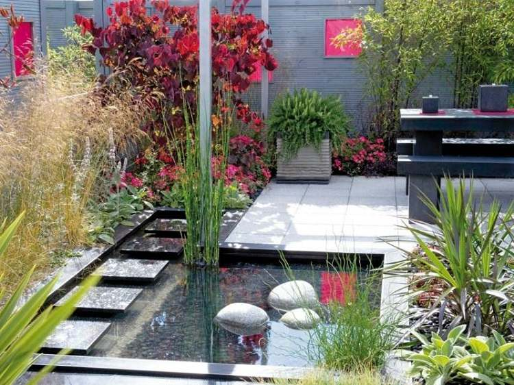decoracion jardin diseno asiatico moderno ideas