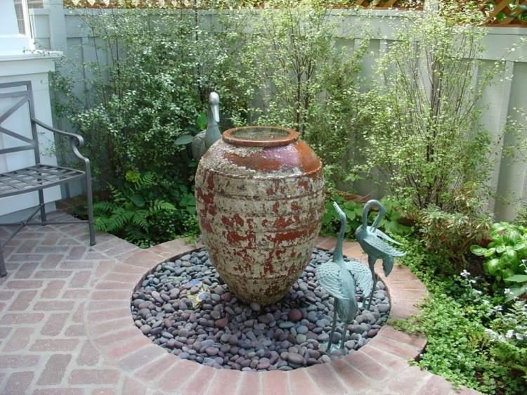 decoracion jardin diseno asiatico pajaros baldos ideas