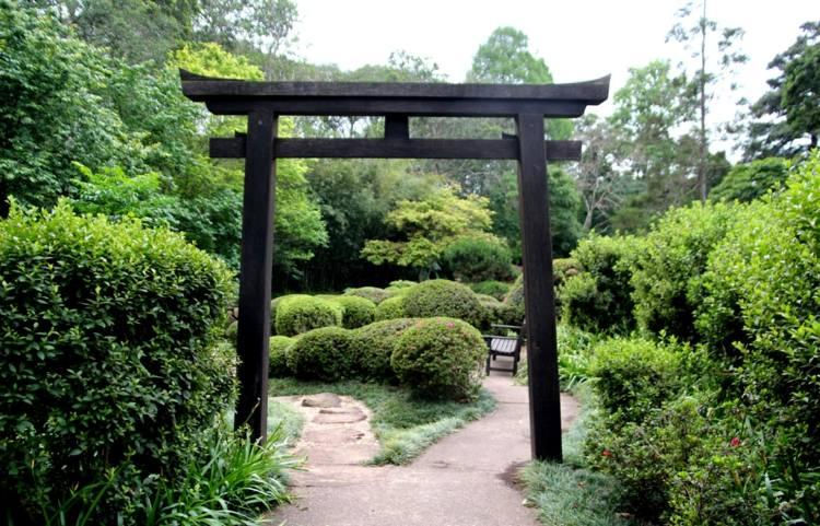 decoracion jardin diseno asiatico pergola ideas