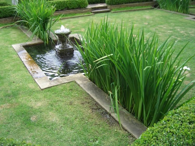 decoracion jardin diseno asiatico vegetacion fuente ideas