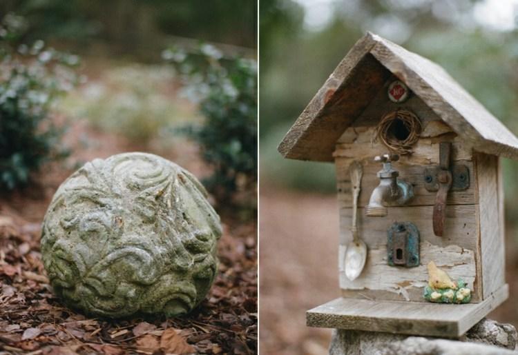 decorar jardines objetos rusticos adornos