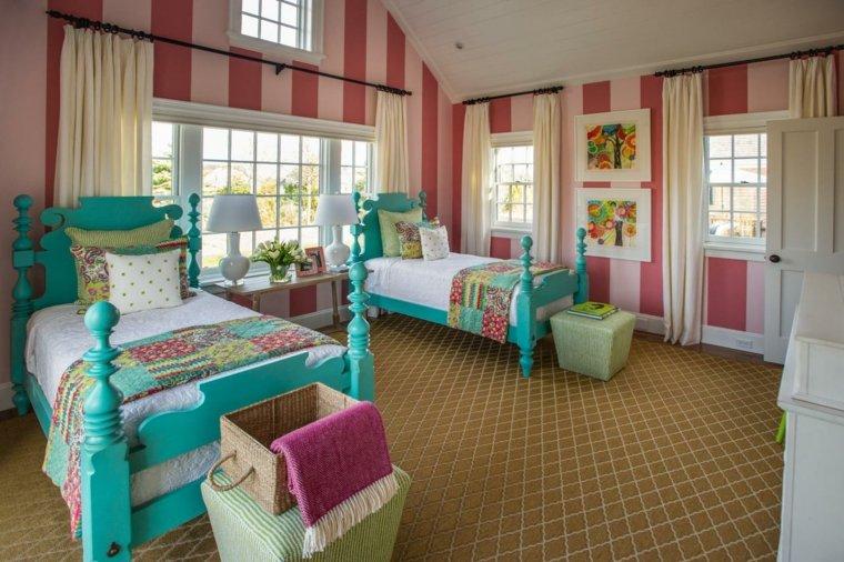 decorar paredes habitacion ninas color rosa ideas
