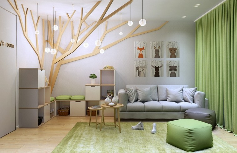 decorar paredes habitacion nino arbol pared ideas