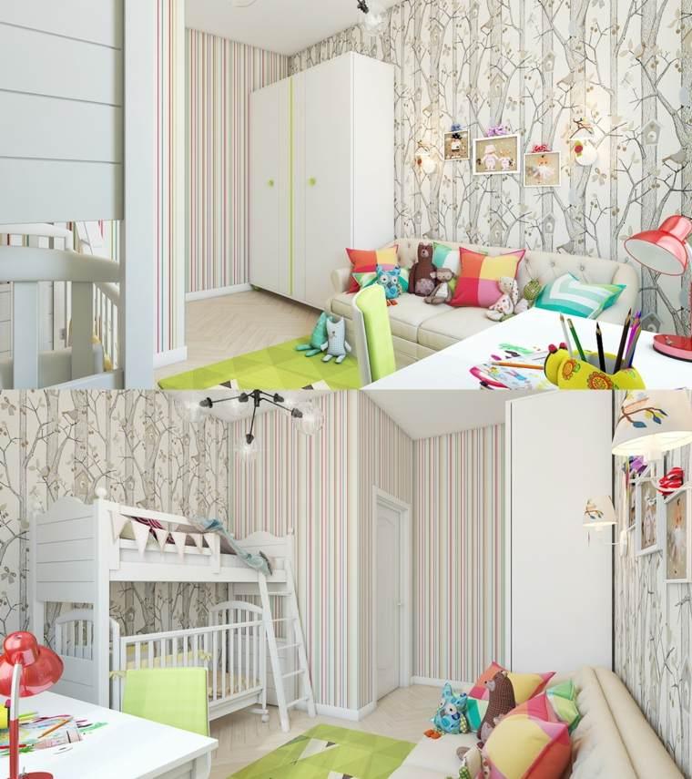 decorar paredes habitacion nino bosque paredes ideas