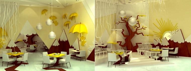decorar paredes habitacion nino color amarillo ideas