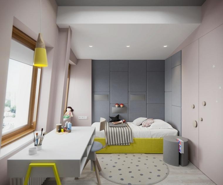decorar paredes habitacion nino color gris blanco ideas