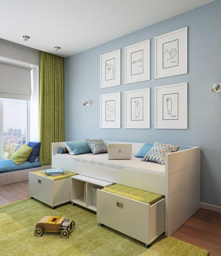 decorar paredes habitacion nino cuadros originales pared ideas