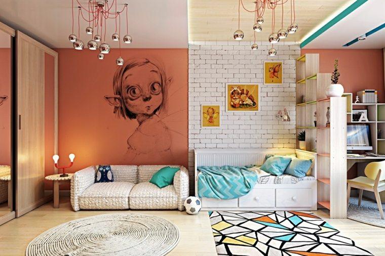 decorar paredes habitacion nino dibujo ideas