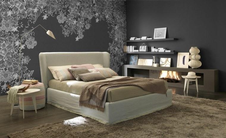decorar paredes habitacion nino flores pared ideas