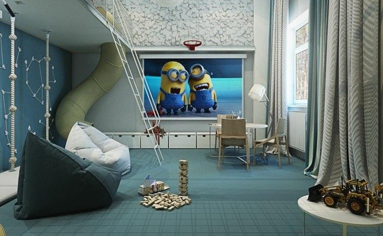 decorar paredes habitacion nino miniones pared ideas