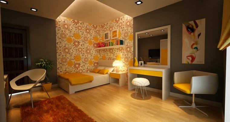 decorar paredes habitacion nino papel pared flores ideas