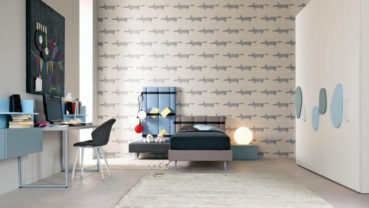 decorar paredes habitacion nino papel pared ideas