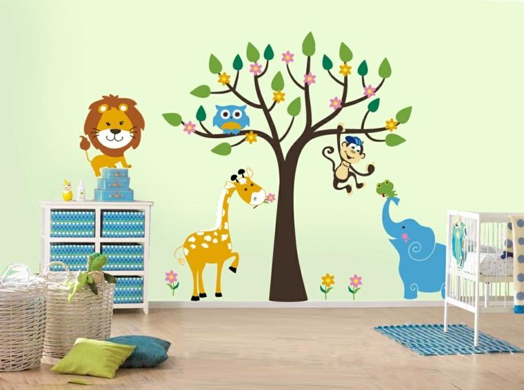 decorar paredes habitacion nino pegatinas ideas