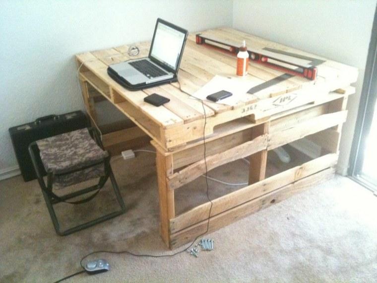 dieño mesa escritorio diy palet