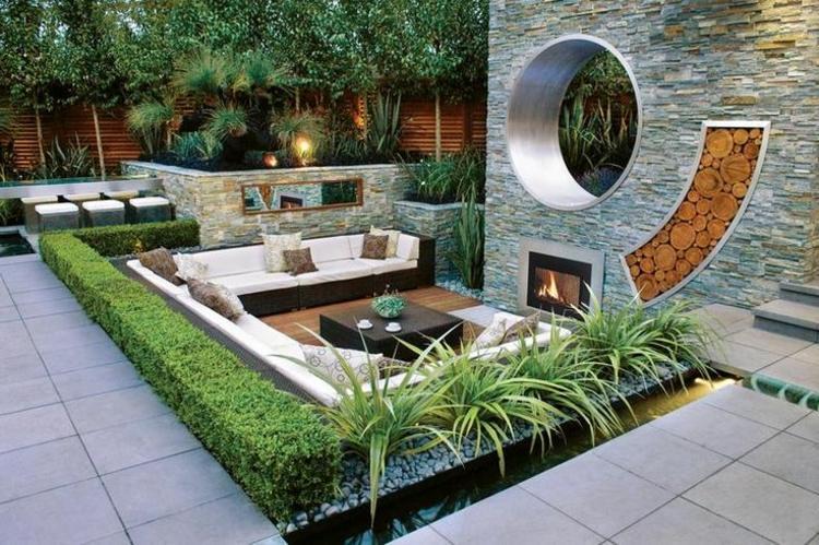 Decoraci n de jardines plantas exteriores y patio luminoso - Fuentes para jardin exterior ...