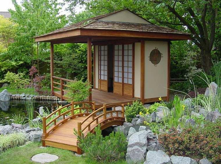 Puente en el jard n cincuenta y nueve ideas para for Diseno de jardines zen