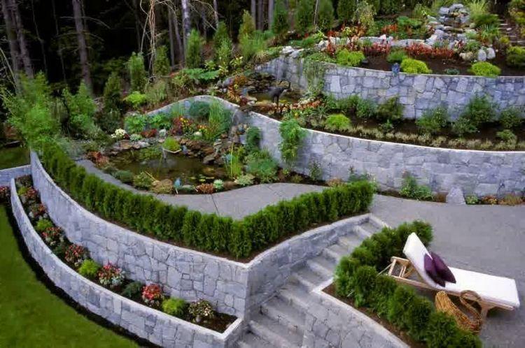 diseño terrazas jardin nivelado