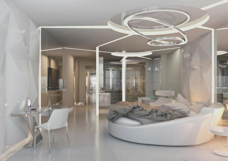 diseño habitación estilo futurista