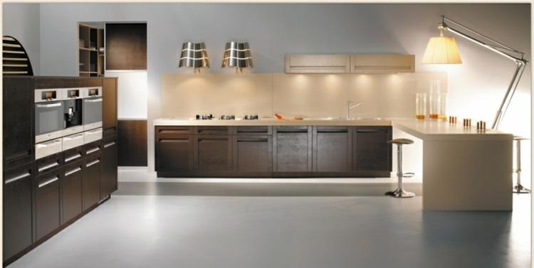 diseño luces modernas cocina amplia