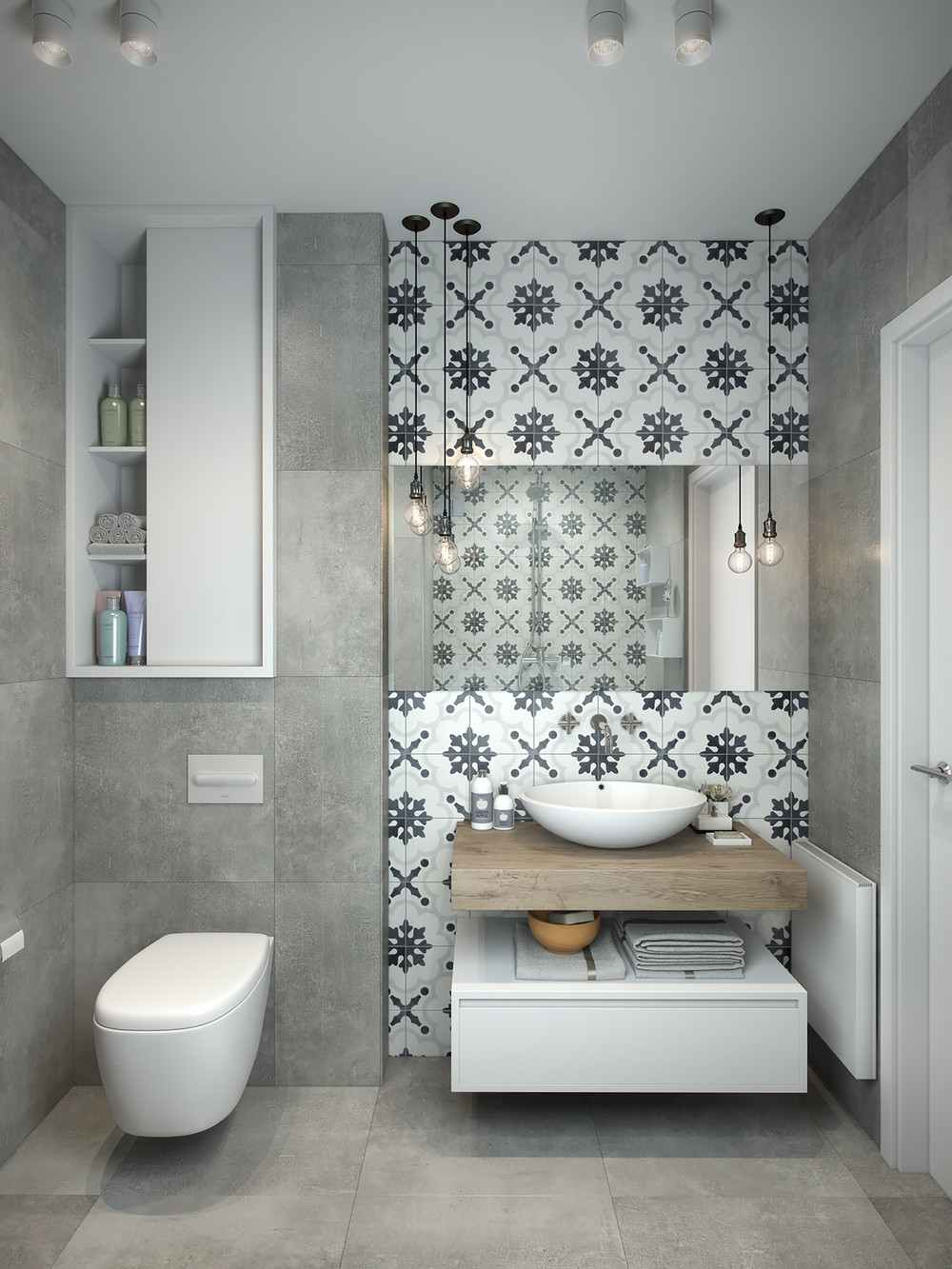 Azulejos Baño Originales:Grey and White Bathroom Pinterest