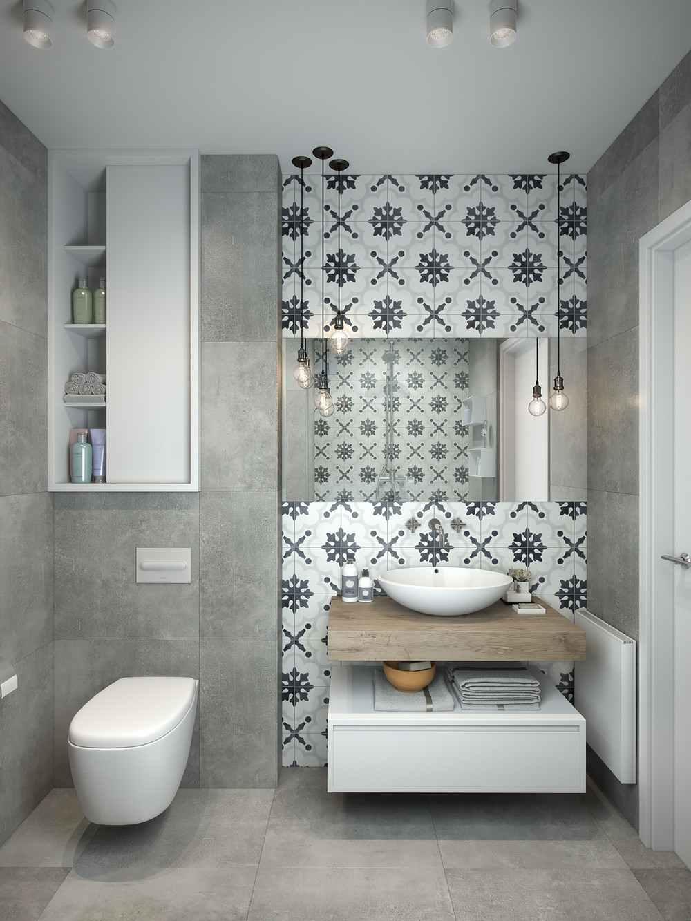 azulejos baño motivos negrita