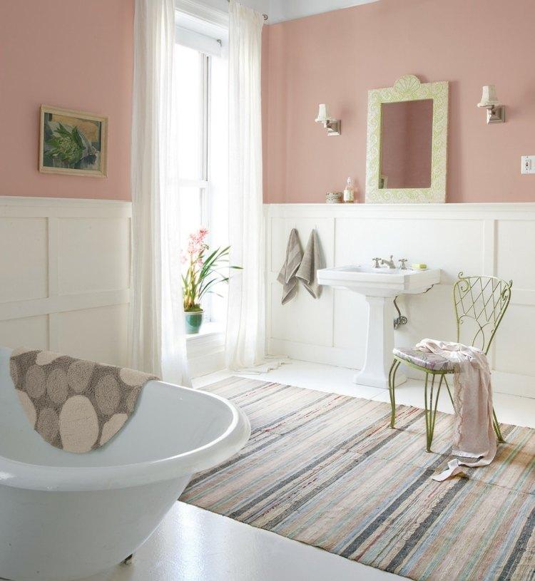 diseño baño moderno pared rosa