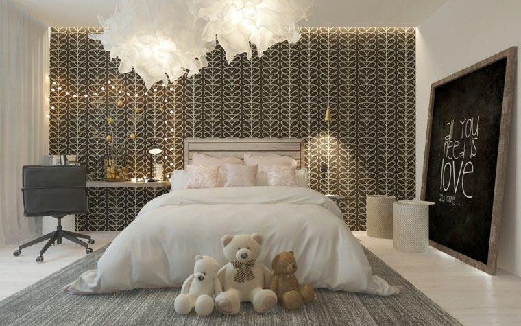 diseño habitaciones de niños cama juguetes peluche