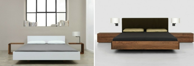 diseño cama matrimonio estilo moderno
