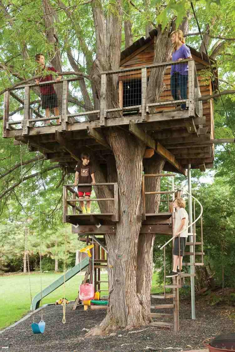 diseño casa madera árbol