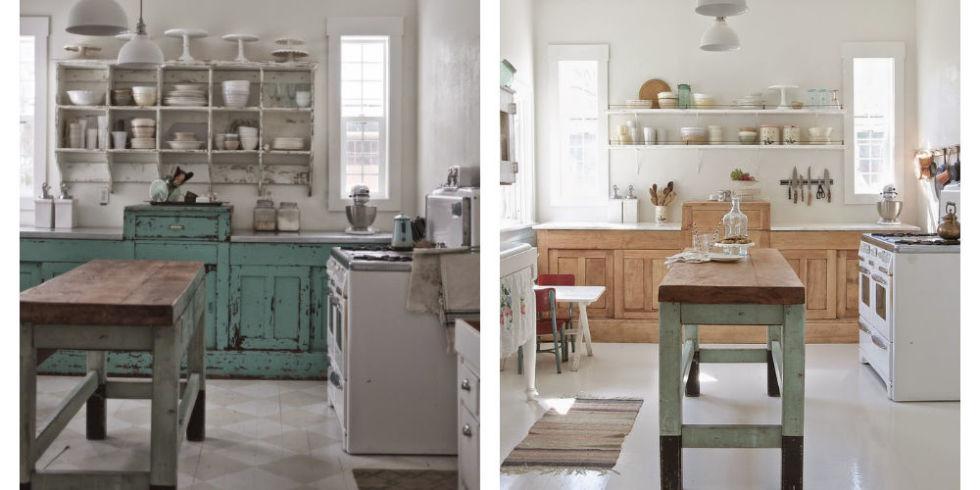diseño de cocinas muebles retro