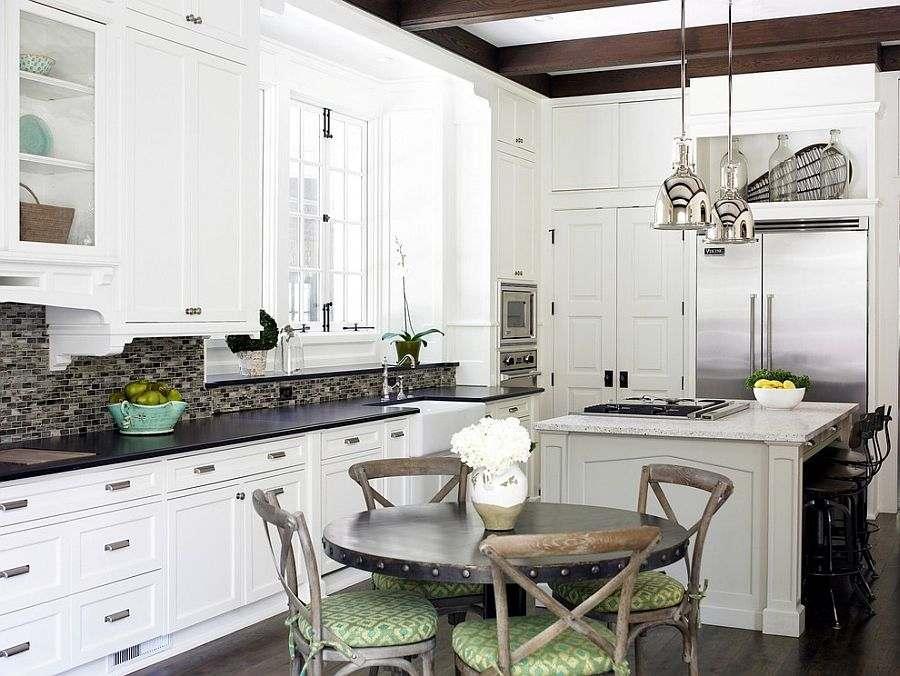 diseño cocina muebles blancos