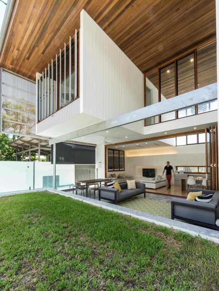 diseño de jardines Teneriffe Australia casa ideas