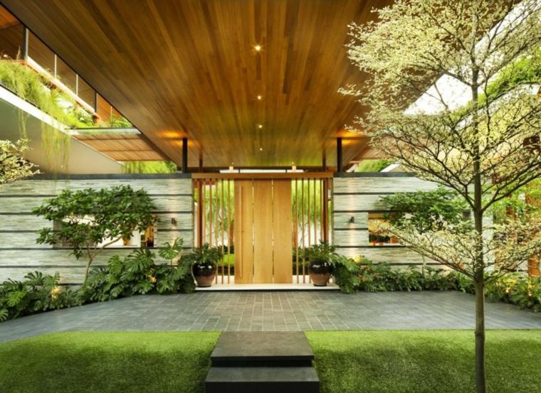 diseños entrda porche lujoso estilo