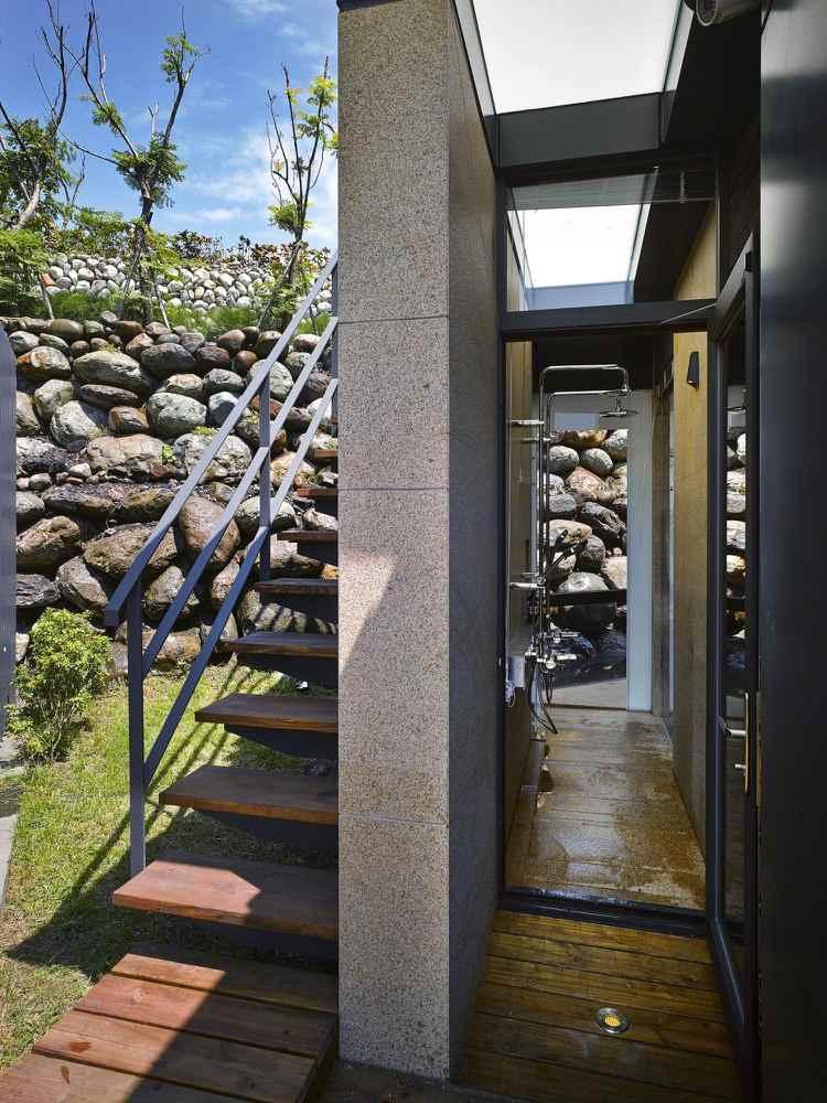 diseño exterior estilo moderno escaleras
