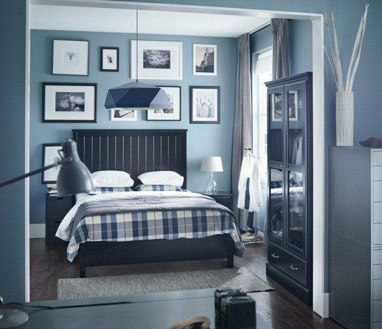 color azul en las paredes de interior cincuenta dise os geniales. Black Bedroom Furniture Sets. Home Design Ideas