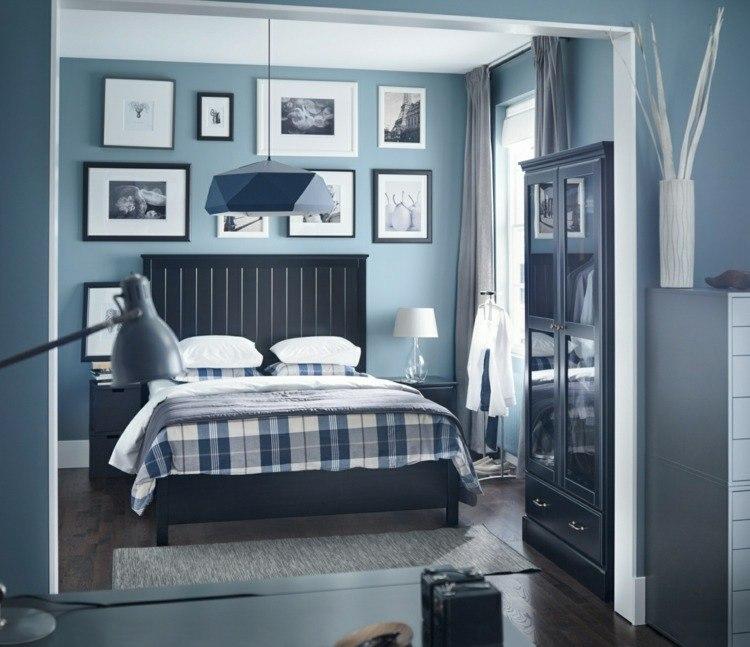 diseño habitación dormitorio azul