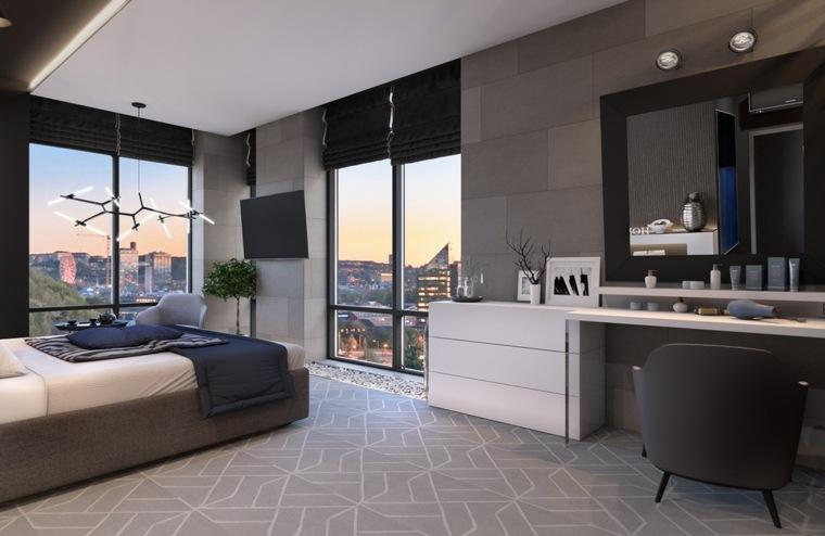 diseño habitación moderna y lujosa