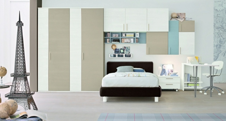 diseño habitación figura torre eiffel